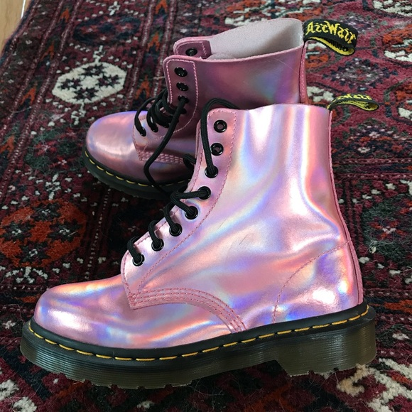 how to buy discount sale uk Pink holographic doc martens! ✨
